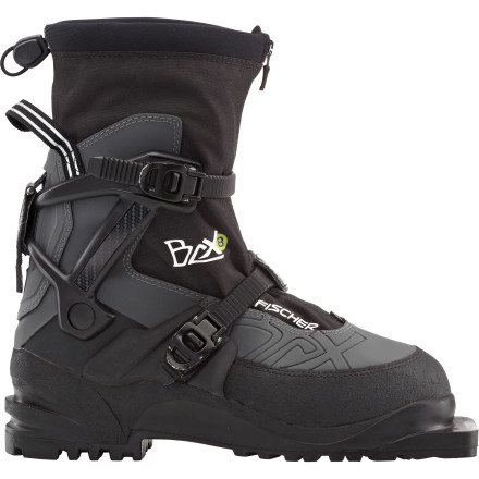 Ski When embarking on ambitious multiple-day backcountry tours over long stretches of rolling terrain, you need the stiff support and weather protection of the Fischer BCX 875 Boot. Two Ratchet Lock buckles firmly anchor your foot in the injected Heel Cap while the Thinsulate liner provides the level of warmth essential on long backcountry tours. The 3-pin compatible Vibram sole gives you a firm grip and the integrated gaiters keep the snow from finding a way to your feet. - $188.97