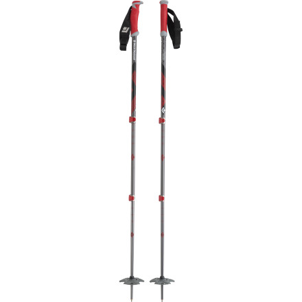 Ski All it takes is a flip of the thumb and you're able to quickly adjust the length of the three-section Black Diamond Expedition Ski Pole. Large-diameter shafts and large powder baskets ready this pole for steeper, more agressive lines and a lip on the grip acts as a leverage point for flipping buckles without leaning over. Take this pole when you tour in the backcountry or when you decide to tackle a steep chute just outside the boundary of the resort. - $53.97