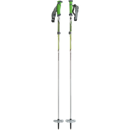 Ski The Compactor Backcountry Ski Pole collapses into a tight little package to make it easy to pack, and when it's fully deployed, it offers the benefit of adjustable lengthit's like a backcountry pole from the gods. Both the folding and adjustable length systems are dead simple to operate by anyone with thumbs, and they engage quickly and securely. Backcountry skiers, snowboarders, and traveling snowshoers just discovered heaven-in-hand. - $71.97