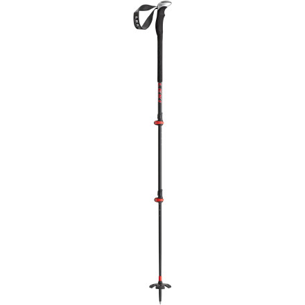 Ski One is the loneliest number, or so says the Leki Tour Carbon III Ski Pole. With three shaft diameters, two Speed Lock adjustments, two baskets, and lightweight carbon and aluminum, this pole gives you freedom of choice for the snow and terrain you're proposing to tackle. Get your tour on. - $146.96