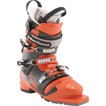 Ski Backcountry powder hunters who are searching for a lightweight, ultra-smooth freeheel touring boot need look no farther than the Black Diamond Mens Seeker Telemark Ski Boot. Built to be efficient on the ascent and responsive when you make your turns, this boot offers an ideal balance of gentle support and forgiving flex. Use it with either cable or three-pin tele binders. - $329.45