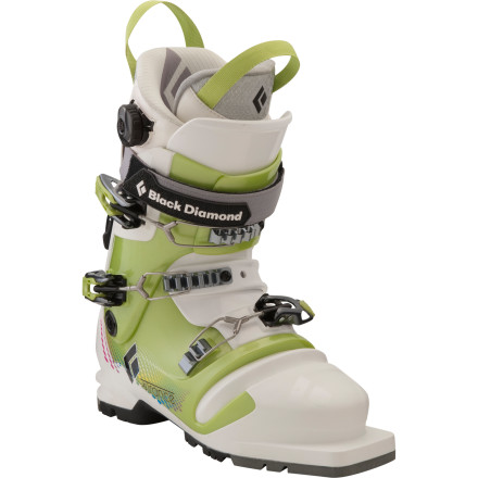 Ski Black Diamond built its Womens Trance Telemark Ski Boot to deliver oodles of comfort during your skin to the ridge and a medium flex for a responsive-feeling ride back down. Designed with a variety of women-specific features, this touring boot resembles its y-chromosomed cousins only for its ability to slay lap after lap with equal gusto. - $329.45