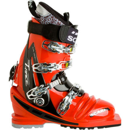 Ski Scarpa built the burly Scarpa T-Race Telemark Boots specifically for expert-level telemarkers who love driving huge skis at high speeds. If you're looking for stiff, aggressive boots that charge down gnarly terrain without making your feet scream, the T-Race is the answer. - $728.95