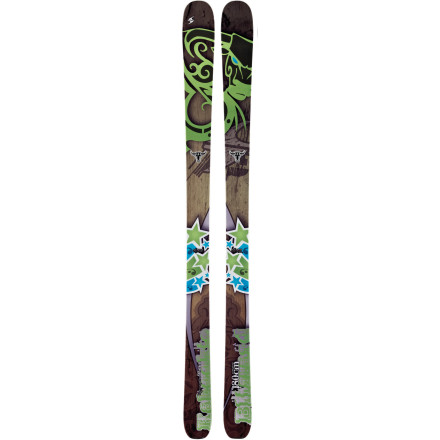Ski There's nothing better than getting a morning workout and pow laps in before work with the Blizzard Kabookie Ski. This versatile ski's rockered tip and tail, slight camber underfoot, and rockin' dimensions lap it up both out of bounds and inbounds. Plus its FlipCore technology (natural rocker design) offers smooth handling, stability, increased edge-to-edge quickness, and a floating effect so you can lay down buttery smooth turns, bust through crud, and hike up the skin track with ease. - $559.96
