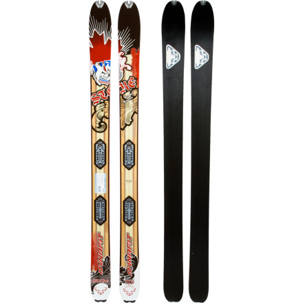 Ski From long-approach tours to slack country slayage, Dynafits new carbon-reinforced, bamboo core Stoke Ski offers up shreddy, smeary radnessminus the weight its girthy profile would normally suggest. The Stokes early-rise tip enables quick and smooth-as-butter turn initiation, and eliminates the high-step routine while stomping out skin tracks in fresh deepness. The combination of paulownia, bamboo, carbon, and fiberglass in the Stokes construction creates a super stable surf platform, but saves you a few yo-yo laps worth of energy with its strategic use of materials. The Stokes metal-reinforced tip and tail put your skins on lockdown, and increase the skis life. - $479.97