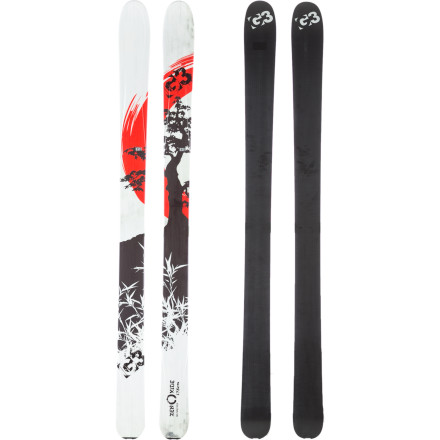 Ski With cap construction, wood core, and low-mass tip and tail, the G3 Zenoxide Ski was born to flit up the hillside; and the fat 105-millimeter waist and early-rise tip has a serious agenda for untracked. If with traditional camber for death-grip on hardpack it weren't also infinitely competent inbounds, it would be tempting to say it could cause a decimation of the resort-going species. - $489.97