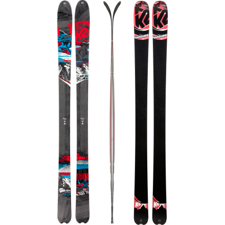 Ski K2 made the Hardside Ski to bust crud and hold a hard, fast line through anything you encounter in the backcountry. A blended wood core gives this ski a smooth and consistent flex, All-Terrain Rocker keeps your tip from hooking at speed, and metal laminate construction encourages precise control. This ski inspires confidence whether you're hiking a steep, icy chute that's accessible from the tram or bagging soul turns through the corn off a skin track far beyond the resort. - $524.96