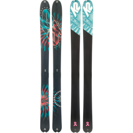 Ski The K2 Women's GotBack Ski has a little extra junk in its trunk (waist, actually) for added flotation in the deep stuff. - $487.46