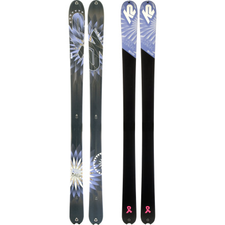 Ski The K2 Women's TalkBack Ski would much rather cruise down untouched pow than fight through the resort lift lines. Designed to take you into the backcountry, this lightweight, easy-to-turn ski doesn't mind setting the skin track and laying down some beautiful turns. - $449.96