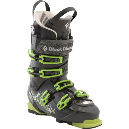 Ski Built tough and with a stiff forward flex, the mad scientists at Black Diamond designed the Factor 130 Alpine Touring Boot with hard charging and precision control in mind. Step it into a standard alpine DIN-compatible binding for immediate in-bounds gratification or pick up a set of Black Diamond's AT Sole Blocks (sold separately) to clip into your two-pin tech binder. - $443.40