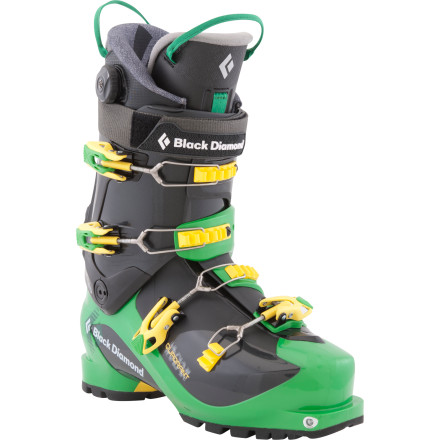 Ski Men take note: Black Diamond's Quadrant Alpine Touring Boot offers the lightweight chassis of a touring boot and the power and precision of a freeride boot all in one. Precise and stiff enough for long, high-speed turns, this AT boot is a tool for seasoned backcountry skiers who want to take on steep mountains and skin-accessed terrain without sacrificing downhill performance. In walk mode, you're treated to a massive 40 degrees of buttery-smooth cuff flex and in ski mode, the cuff locks securely into place against the shell of the boot for rock-solid shredding. The Quadrant is the stiffest of Black Diamond's alpine touring boots and it's built for technical ascents and neck-snapping speeds. - $447.30