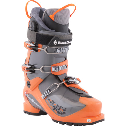 Ski Sacrifice nothing when you pull on the Black Diamond Men's Prime Alpine Touring Boot before a marathon ski tour or dawn-patrol powder mission. This lightweight boot offers power, precision, and comfort in an AT package that's just as comfortable and warm as your alpine boot. In walk mode, you're treated to 40 degrees of buttery-smooth cuff flex to keep your stride natural on the skin track, and in ski mode, the cuff locks into place against the boot shell so you lose nothing in the way of performance. Push this boot into technical descents worthy of a freeride boot and tackle ascents that would otherwise demand a too-light, minimalist AT bootthe Prime takes both in stride. - $483.65