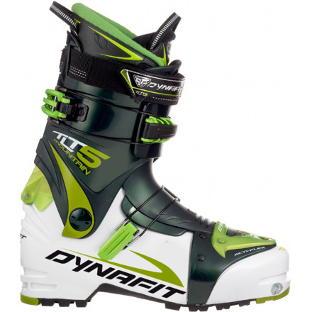 Ski Attack high-altitude tours with the lightness and agility of the Dynafit TLT 5 Mountain TF-X Alpine Touring Boot. Mountain-bred details like a rockered sole for hiking and crampon compatibility make this a prime choice for fast ski mountaineering. This boot rocks a thermoformable liner for unparalleled comfort on the descent and a Pebax cuff that maintains a reliable flex in the deep freeze of winter or warm spring shredding. Transition from ski to walk and tackle your next technical ascent with sure-footed speed. - $449.97