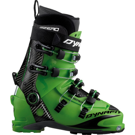 Ski Newly redesigned with a carbon cuff, the ZZero 4 Green Machine TF Alpine Touring Boot offers all the comfort and fit of Dynafit's previous Zzero PX models but with greater energy transfer for your descent. Touted as the first carbon cuff four-buckle on the market, the Zzero 4 Green Machine grants featherlight uphills and rewarding downhills so you can experience the best of both worlds during your next tour. - $474.98