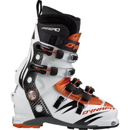 Ski You'll be stoked your Dynafit Zzero 4 C-TF Alpine Touring Boots weigh just over six pounds when you're halfway to your next destination on the Haute Route hut tour. These tough, yet nimble AT boots stay light and ski hard. Touted as the lightest four-buckle on the market, the Zzero 4 C-TF boots grant featherlight uphills and rewarding downhills. - $524.97