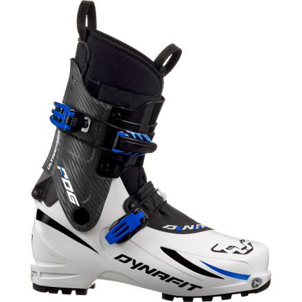 Ski Go light and move fast when you slip your foot into the Dynafit Dy.N.A. PDG Ski Boot. Similar to its big brother, the Dy.N.A. Evo, the PDG offers the same hiking and gliding performance with only 100g of added weight. From its Quick Step-In binding compatibility to the light, stiff shell and plenty of forward-lean capability, you'll find all the race-ready features you need to ascend with speed and descend with power. - $594.97