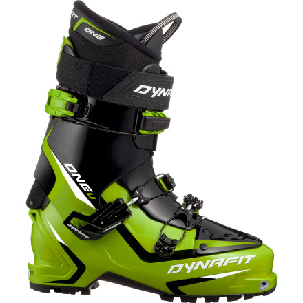 Ski The One U-TF Alpine Touring Boot gives you PU (polyurethane) performance in streamlined form for progressive flex at a light weight. And a thermo-formable liner, rockered rubber sole, and walk mode keep you going, far and wide, or lap after lap. - $398.97