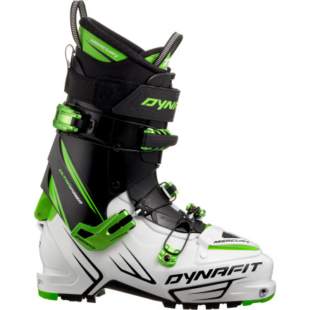 Ski The Dynafit Mercury TF Alpine Touring Boot is a freeskier's frosty dream. Because the best freeride conditions are found out of bounds, where the snow is fresh and deep and prime for hucking, you need something light and sure-footed for the hike. The burly Mercury meets the need: it handles air, speed, your fat skis, and the hike in, however deep and high you need to get. - $599.96