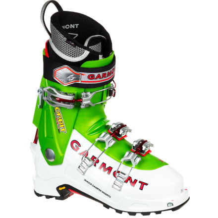Ski Burly enough to effectively drive big skis, yet light enough to sport on ambitious multiday tours, the Garmont Orbit Alpine Touring Boot gets you to the line you want to ski and leaves you with enough juice in the tank to attack it the way you want to. The EZ Fit liner gives you unrivaled comfort right out of the box and can be thermo-formed for further customization while the Shock Damper inserts in the shell's inner sole provide comfort on the way up and extra cushion on the way back down. - $454.97