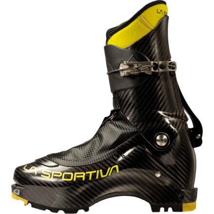 Ski Weighing in at just over a pound each, the La Sportiva Stratos Evo Alpine Touring Boot is the lightest ski-mountaineering boot ever produced. Made entirely of carbon fiber, the competition-inspired Stratos Evo easily switches between hike and ski modes for ultra-fast ascents and the performance on the descent that would give any top-tier alpine ski boot a run for its money. Although the Stratos Evo comes at a price, you need the best if your aspirations include competing with the best. - $2,249.96
