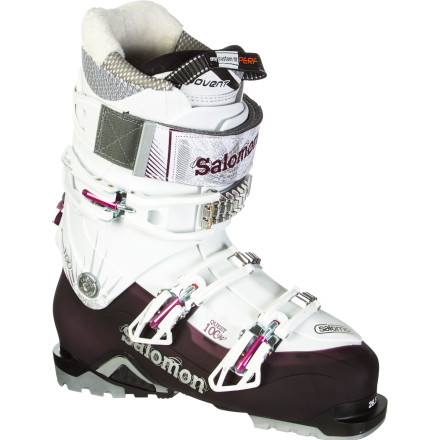 Ski If you've ever longingly stared out the sidecountry gates but were stopped by your uncomfortable boots, turn to the Salomon Women's Quest 100 Boot. The Quest 100 delivers downhill performance for bell-to-bell resort skiing and the Ride-and-Hike technology you've longed for to make sidecountry travel comfortable and possible. Plus, Salomon gave the Quest a women-specific liner and cuff so you're not constantly stopping at the warming hut for boot adjustments. - $374.99