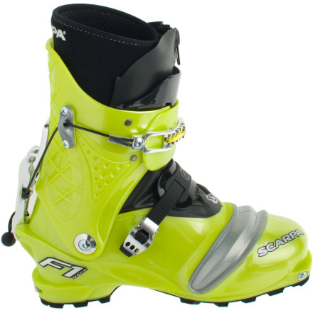 Ski As seen on randonee race podiums around the world, the Scarpa F1 Race Alpine Touring Boot reigns supreme with ultimate uphill efficiency and the all the backbone you need to crush the downhill. Scapa kept this boot light, made it quick to switch from ski-to-walk mode for touring, and outfitted it with the all-day comfort of a thermomoldable liner. Uphill junkies and downhill addicts finally have the smooth-flexing, technical race boot they've been looking for. - $440.53