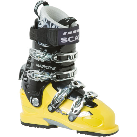 Ski All hail the Scarpa Men's Hurrican Pro Ski Boot. With a powerful 125 flex Pebax shell, a walk mode for touring, and steel forefoot reinforcements, you'll blow yourself up before you explode this boot on a gnarly line. Scarpa balanced the powerful nature of this boot with a buttery-smooth intuition liner and a wide 104mm forefoot width for superior comfort. Point yourself at something disturbingly steep at the resort, and then bag king lines just outside resort boundaries, and do it all with this one boot. - $554.21