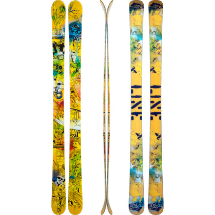 Ski If your aspirations include running away to join Line's Traveling circus, make sure you dont leave home without the Traveling Circus Ski slung over your shoulder. Debuting as Lines newest park tool, the Traveling Circus is certain to become as essential to your daily park sessions as your bullwhip is to your tiger training. Set your sights on the greatest snow on earth, dangle your possessions in a hobo sack from the tip, and march off into a future that is sure to give the greatest show on a earth a run for its money. - $337.46