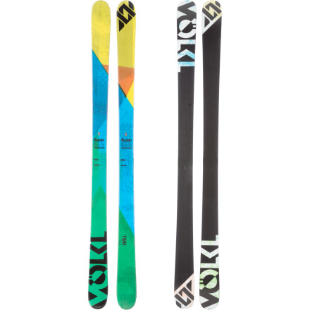 Ski Maybe they named it the Volkl Wall Ski, because with all this edgehold it feels like it could climb one. Traditional camber gives it vise-like grip, control, and pop; and a symmetrical, true-twin sidecut means all kinds of switch-skiing madness. Forward, backward, hang tight, and precise whichever way you please. - $411.75