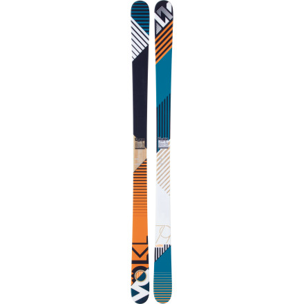 Ski Balance is key, grasshopper. Behold the perfect symmetry of the Volkl Ledge Ski, a twin-tip rocker with traditional camber that rides forward and switch with silky serenity and death-grip edgehold. Strong like steel, light like feather. - $279.30