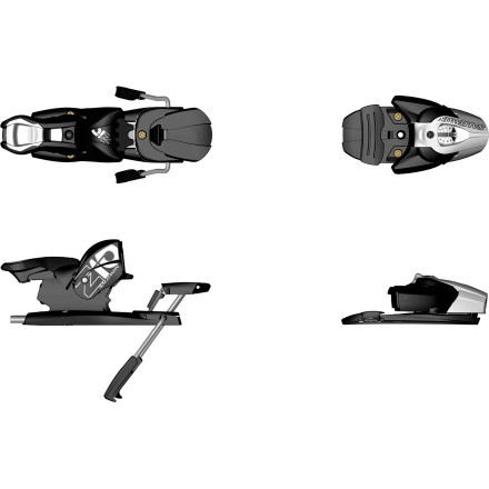 Ski Fun is your middle name, and the Salomon Z10 Ski Binding makes sure things stay that way. It has a moderate DIN range and releases in all directions, yet brings the muscle with a high-lateral transmission. Ski free and far, snow hog. - $89.99