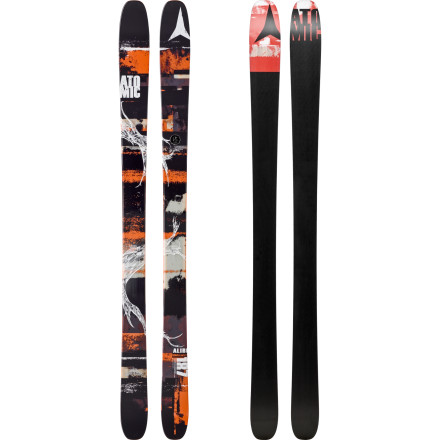 Ski Your explanation for ditching your ski buddies lies in your Atomic Alibi Skis. With these all-mountain skis on your feet, it's hard to resist popping into the trees for a little bit of soft snow and then dashing ahead to pounce on fresh corduroy before it's all skied out. Designed with a titanium backbone, the Alibi delivers a super-smooth ride in all conditions, so of course you're not going to hold back. - $487.49