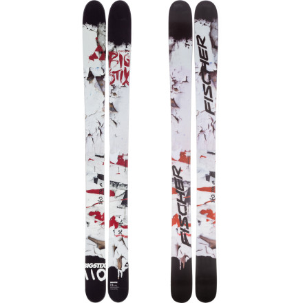 Ski Voted most likely to put a big, fat, silly grin on your face, the Fischer Big Stix 110 Ski is all about fun. Ride it off cliffs and kickers, through pow and crud, and down the gnar and steep; this ski cowers to nothing. And with a girthy 110-millimeter waist and twintip, rockered profile, it doesn't have to (and neither do you). - $487.49