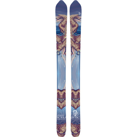 Ski The Icelantic Shaman Ski can appear a bit superstitious. The tapered tails and 160mm diamond-shaped tips are certain to draw skeptical stares in the lift line. But one set of turns on a powder day and the Shaman will make a believer out of you. The ski optimizes your center of gravity for supernaturally powerful powder turns while the ultra-fat tips provide unrivaled flotation. Thanks to the traditional camber and generous sidecut, the Shaman conjures up hardpack-ripping turns with just as much confidence. - $503.27