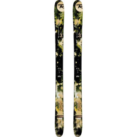 Ski The Rossignol S3 Ski effortlessly blends the best part of a rockered powder ski with the laser-like precision and control of an all-mountain ski. Vertical sidewalls work in harmony with low camber underfoot to give you edge hold when the terrain turns steep and hard, and when you need to drift a high-speed floater on a 30-inch day, the tip and tail rocker are there. Rossignol kept this ski fat at the tip so you'll pop up and out of deep cliff landings, and at just 98mm at the waist, you'll have the maneuverability to slice and dice icy chutes like you're on a gate-crushing race ski. - $419.97