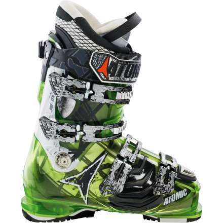 Ski The Atomic Hawx 110 Ski Boot is designed for intermediate and advanced skiers who require the precision and performance of a bird of prey in each piece of their set-up. The Hawx Boot features I-Flex Inserts that allow the forefoot to naturally flex when engaged in a turn, resulting in greater balance and control. ASY Pro T2 Liners are heat moldable for a custom fit and feel that is crucial for turning your skis into talons that can rip the whole mountain. Throw your old boots to the birds, the Hawx 110 is coming home to roost. - $374.99