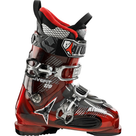 Ski No more hot spot, bone spur, or strangled-numb fleshthe Atomic LF120 Ski Boot lets your dog lie out in all its wide glory. With a burly shell, stiff flex, and custom liner, out of the way, everyone. - $374.99