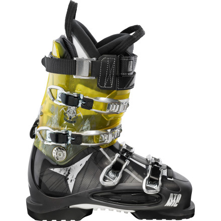 Ski When you want the feel and performance of a traditional race boot and capability of a hike and tour boot, look no further then the Atomic Tracker 130 Ski Boot. This premium freeride boot turns into a climb-friendly hiker at the flip of a switch. Its Ridge Walker sole's aggressive lugs and 2K rubber give you solid grip on sketchy terrain where an old plastic-heeled boot print is all that would be left to mark your last living moment on a steep, exposed ridge-line. - $389.99