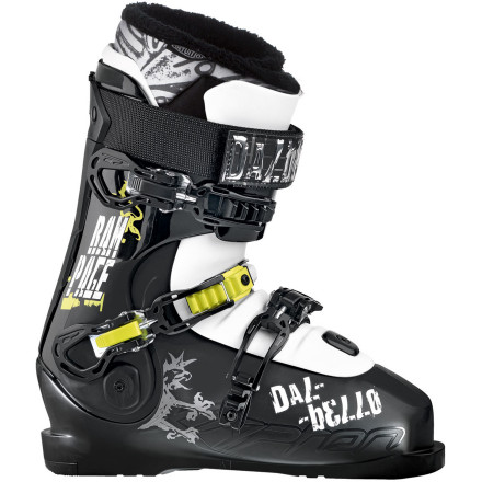 Ski Get ready to turn a new page in your ski career and ramp things up with the RDP KR Rampage I.D. Boot from Dalbello. Thanks to the thermo-moldable fit liner, anti-shock foot board, and adjustable flex and lean, you can direct your ferocious energy at the lines you want to ski instead of at your boot for mangling your foot. When you easily slip your foot out of the three-piece boot design at the end of the day, you'll be glad it doesn't look or feel like it's been trampled by rampaging cattle. - $314.97