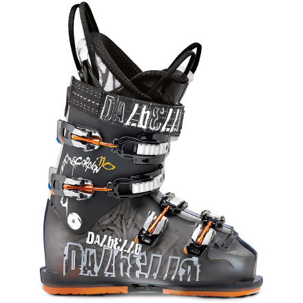 Ski One minute you're slashing signature turns down freshly groomed trails and the next you're sniffing for some hidden powder in the trees when you strap on the Dalbello Men's Scorpion SF 110 Ski Boot. Thanks to the SF 110's smooth and progressive flex, your able to shred the whole mountain in all types of conditions. - $274.98