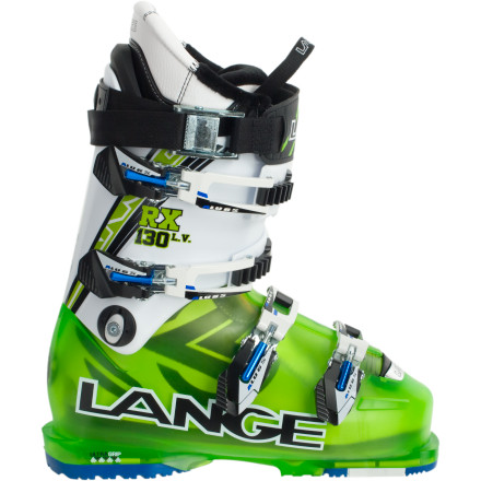 Ski Usually, a boot with a flex-rating of 130 and a 97mm last would automatically conjure up images of obscure medieval torture devices in your mind. But thanks to Lange's Control Fit technology and high-density liner, the RX 130 LV Ski Boot delivers the performance you crave in a surprisingly comfortable package. If you're a big-mountain charger who's looking for stiff boot with a snug heel, the RX 130 might be exactly what the doctor ordered. - $454.97