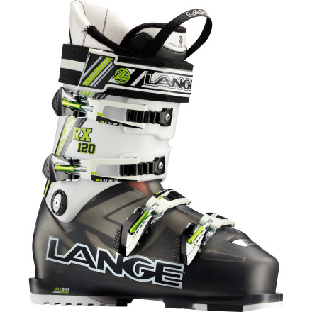 Ski The Lange RX 120 Ski Boot is proof that a stiff flex need not punish the foot. With a burly 120 flex, ample 100-millimeter width, and warm, high-density liner, the RX 120 gives you ripping all-mountain performance without crushing your toes and spirit. - $419.97