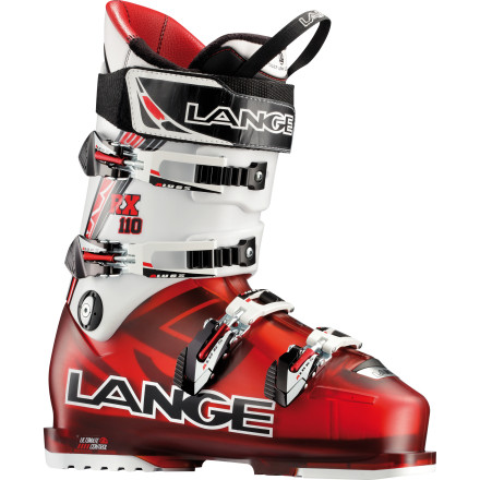Ski From first chair to patrol sweep, you can rip 'round the mountain with happy feet in the Lange RX 110 Ski Boot. With a tough-as-nails shell and smooth burly flex, in addition to 100-millimeter width and Control Fit liner, you'll shred all day and still be sad when you see red coats coming. - $384.97