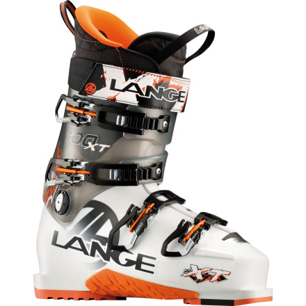 Ski Walkable, comfortable, all-terrainable. The Lange XT 100 Ski Boot rips like a muscly beast and climbs like an ibex, all while cradling your foot in cozy comfort. A smooth 100 flex provides the brawn, and a light weight and walk mode let you get where the getting's good. - $549.95