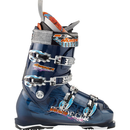Ski If twenty-footers make you yawn and you know all the mountains' 'soft closures' by heart, you could probably upgrade to the Nordica Enforcer Pro Ski Boot and increase your big-mountain authority with more straight-lining and bigger hucks. Inspired by racing boots but built for the pow-loving, cliff-stomping chargers, this boot's Pro Freeride Shell Construction ensures uncompromised stability for crazy speeds in any condition. - $349.50