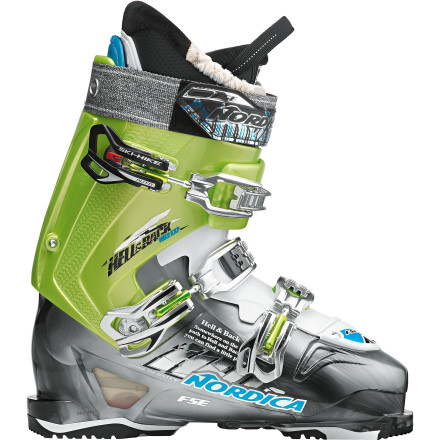 Ski The Nordica Hell and Back Hike EXP Ski Boot pulls double duty and does it gladly when you tour one day and hit the resort for some cliff-hucking the next. A 115-flex shell provides support and forgiveness for hammering lines under the tram, and the touring-mode releasable cuff makes out-the-gate ski touring a comfortable venture. Slide your foot inside this three-buckle boot and point yourself towards untouched peaks or a packed tram without having to switch boots. - $449.21