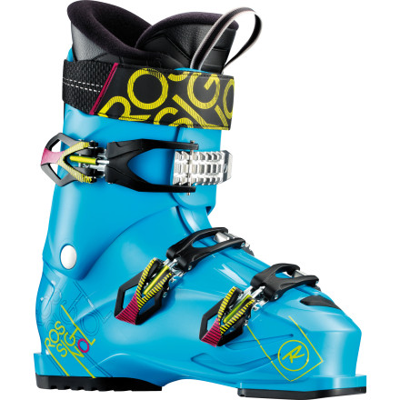 Ski Leave the stiff-as-a-brick boots to the World Cup racersthe Rossignol Men's TMX 90 Ski Boot offers a softer flex and a more forgiving fit for intermediate and advanced skiers who like to play in the park or pipe. At 104mm wide, this boot has some room for your toes to spread out comfortably without sacrificing the close fit you want in order to feel the terrain underneath your ski. Rossignol engineers took things a step further by challenging the idea that simply making a boot softer is enough to make the fit perfect, and thus, the Sensor Fit liner was shaped to directly accommodate the shape of your forefoot, instep, and shin. - $209.97