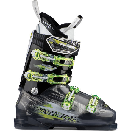 Ski Buckle up the Tecnica Inferno Blaze Ski Boot, and rip the fresh snow at racing speed. A low-volume, 98mm-wide last incorporates a lessened forward lean and softer flex for comfortable but powerful performance while carving turns over the whole mountain. - $302.49