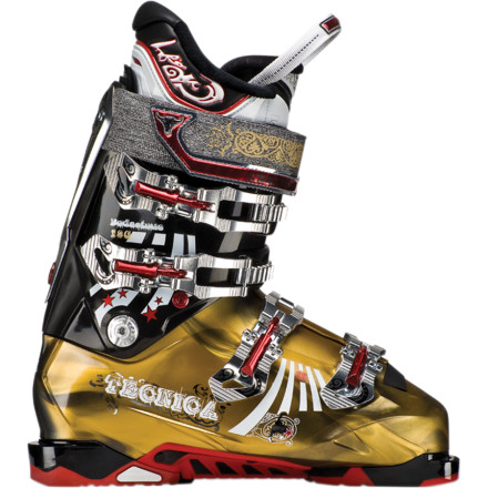 Ski If you're looking to get radical both in bounds and out, the Men's Tecnica Bodacious Ski Boot is the stiff-flex high-performance footwear of choice. The snug 98mm last, 130 flex, and traditional 4-buckle design provide the necessary power and control for the most brag-worthy slackcountry lines while the Mobility Cuff, which easily switches between hike and ski mode, allows you to get there without utter exhaustion. Heat mold the Ultra Fit Pro liner for a custom fit, point your tips in a downhill direction, and get ready to shralp the gnar. - $524.96