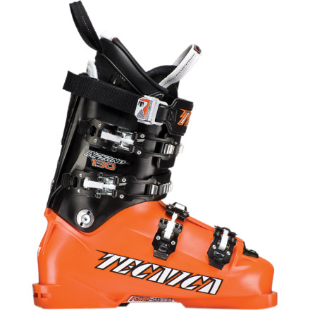 Ski The race-worthy Tecnica Inferno 130 Ski Boot for Men is designed for maximum speed and performance while staying within FIS equipment regulations. The carbon steel Power Chassis integrated into the sole of the boot provides increased rigidity for a direct boot to binding connection that maximizes power transmission while the Quick Instep system allows you to get in and out of the boot without passing out. Add in the race-specific stance and Ultra Fit Pro heat-moldable liner, and you're ready for face-melting speeds on and off the course. - $524.96